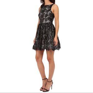BB DAKOTA  black sequin lace party dress.